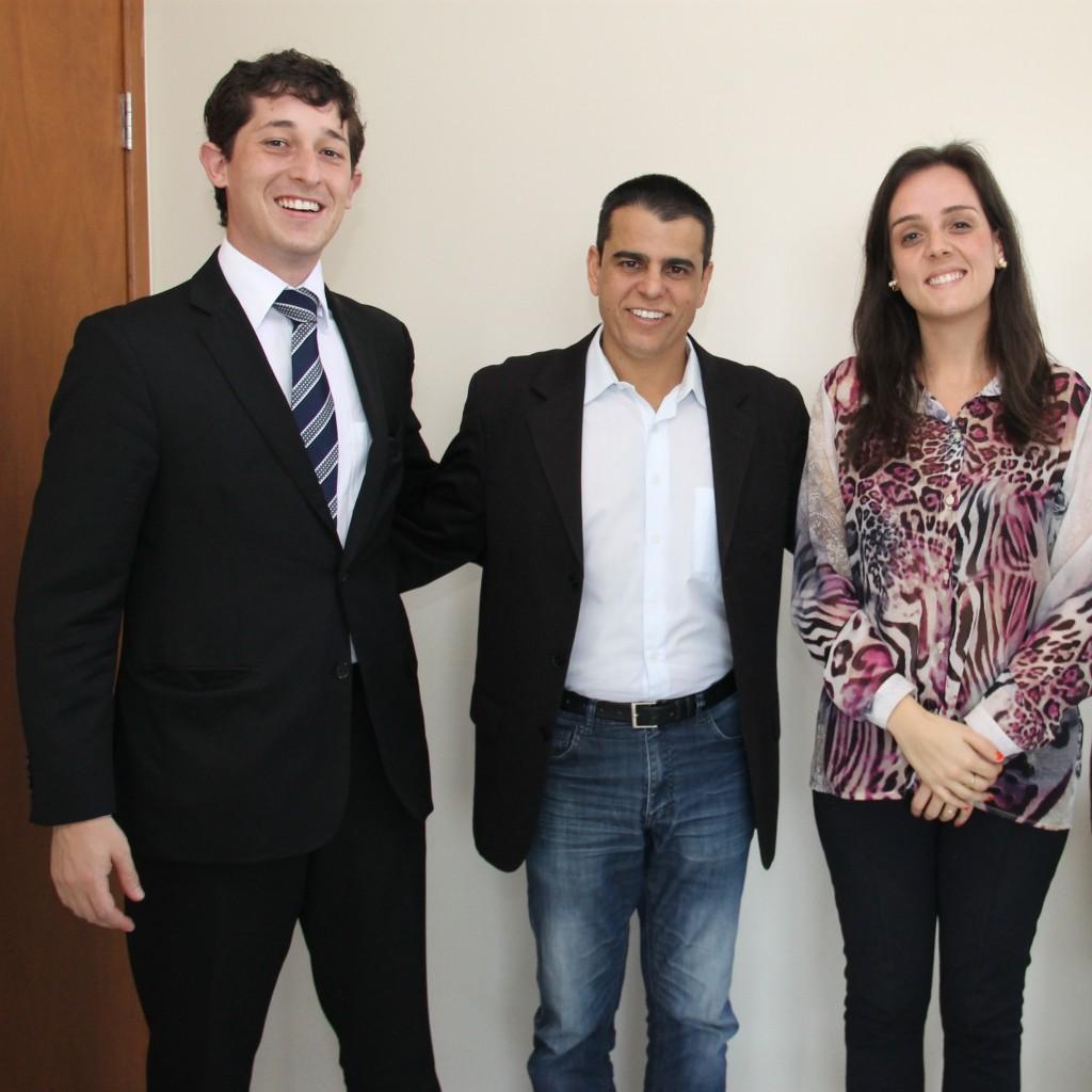 Os advogados da Fecomércio MG juntamente com o deputado Fabiano Tolentino
